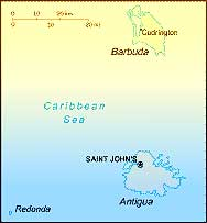 Antigua Barbuda map